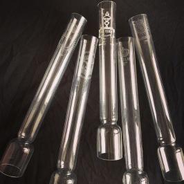 36 mm - Linjeglas 8''' - antika blyglas (Glas till fotogenlampa) - Linjeglas 8''' ANTIKT med stämpel (cirka 235 mm)