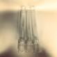 40 mm - Linjeglas 10''' - antika blyglas (Glas till fotogenlampa) - Linjeglas 10''' ANTIKT med stämpel (cirka 255 mm)