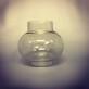 Extraglas litet runt udda - Litet rundat glas till lykta av något slag