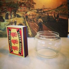 Extraglas MINI stormlykta Feuerhand  (No 75) - Miniatyr-extraglas för stormlyktan Feuerhand No 75
