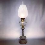 Piedestalfotogenlampa 14''' med slipat oljehus (äldre)