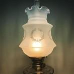 85 mm - Kupa 14''' kransmönstrad klassiker (Kupa till fotogenlampa)