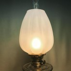 85 mm - Kupa 14''' tulpan helt frostad (Kupa till fotogenlampa)