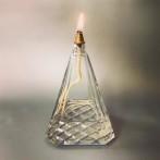 Oljelampa i slipat glas (äldre)