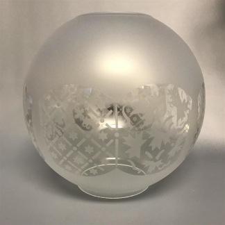 85 mm - Kupa 14''' klotformad dansk (Kupa till fotogenlampa) - Kupa 14''' klotformad Dagmar 1466
