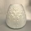 85 mm - Kupa 14''' tulpan akantusblad (Kupa till fotogenlampa) - Kupa 14''' tulpanmodell frostade blommor och blad