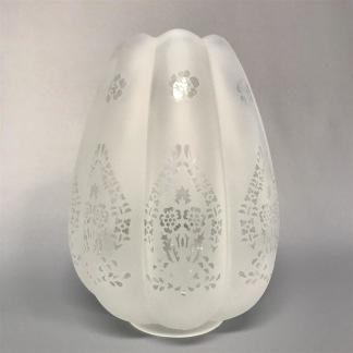 70 mm - Kupa 10''' tulpan vågad kant (Kupa till fotogenlampa) - Kupa 10''' tulpanmodell med vågad kant