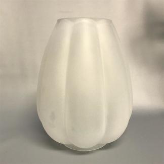 85 mm - Kupa 14''' tulpan helt frostad (Kupa till fotogenlampa) - Kupa 14''' tulpanmodell helfrostad matt