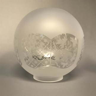 70 mm - Kupa 10''' klotformad dansk (Kupa till fotogenlampa) - Kupa 10''' klotformad Dagmar 1465