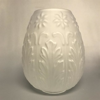 70 mm - Kupa 10''' tulpan akantusblad (Kupa till fotogenlampa) - Kupa 10''' frostade blommor och blad