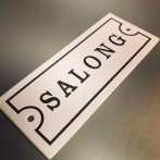 Emaljskylt: Salong