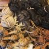 Nyckelring stor apnäve oblekt bomull