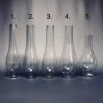 42-44 mm - Linjeglas 12''' - olika modeller (Glas till fotogenlampa)
