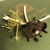 2''' stjärnbrännare (med 4mm snörveke) (Brännare till fotogenlampa) - 2''' brännare polerad mässing inkl. veke