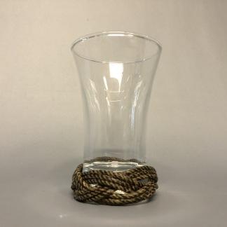 Snapsglas med tjärad knop - Nubbeglas med knop nederst