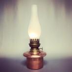Fotogenlampa i koppar 15''' (äldre)