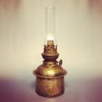 Fotogenlampa 10''' i patinerad mässing (äldre)