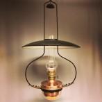 Takfotogenlampa 20''' i koppar och järn (äldre)