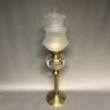 Piedestalfotogenlampa 20''' (äldre) - 20''' fotogenlampa på ribbad mässingspiedestal