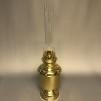 Fotogenlampa mässing på massiv fot 14''' - Ny fotogenlampa i mässing på fot