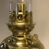 Fotogenlampa mässing på massiv fot 14'''