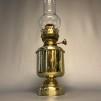 Fotogenlampa mässing på massiv fot 20''' - Ny 20''' fotogenlampa i mässing på fot