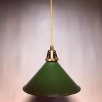 Skomakarlampa i grön plåt (äldre)