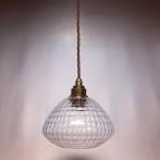 Glasklar lampa med tygsladd (äldre)