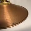 Kopparlampa med tygsladd (äldre)