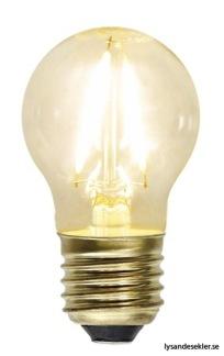 Glasklar lampa med tygsladd (äldre) - TILLVAL: Glödlampa E27 litet klot LED