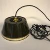 EWÅ-skärm med tygsladd (äldre) - Äldre lampskärm + tygsladd svart med 2 ringar