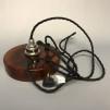 Retrolampa med tygsladd (äldre) - Äldre lampskärm + tygsladd svart med 2 ringar