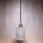 Mindre glaslampa med tygsladd (äldre)