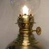 Liten mässingslampa med rundad fot 5''' (äldre)
