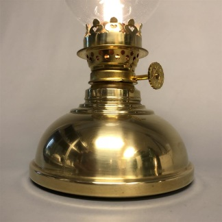 Liten mässingslampa med rundad fot 5''' (äldre) - Liten mässingslampa 5'''