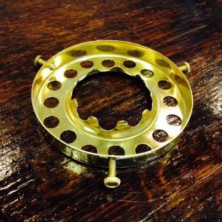 6''' kupring med skruvar (yttermått: 70 mm)  (Reservdelar till fotogenlampor) - 6''' kupring med skruvar i mässing