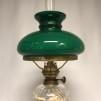 Vacker bordslampa 8''' med mörkgrön skärm (äldre)