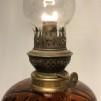 Äldre fransk fotogenlampa 8''' apoteksbrun (äldre)