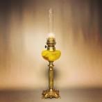 Fransk art nouveau fotogenlampa på marmorfot 14''' (äldre)
