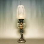 Fotogenlampa 10''' på figurinfot med kupa (äldre)