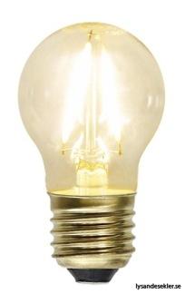 Vintageskärm med tygsladd (äldre) - TILLVAL: Glödlampa E27 litet klot LED