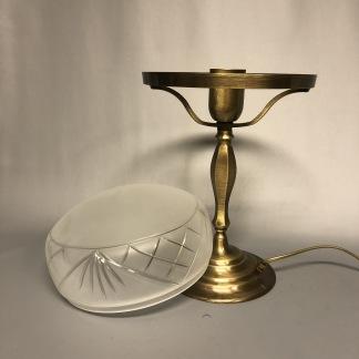 Strindbergslampa klassisk 200 mm slipad frostad - Strindbergslampa KLASSISK i antikoxiderad mässing + slipad frostae 200mm skärm