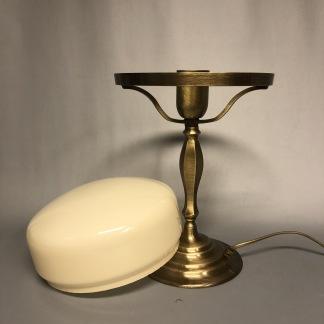 Strindbergslampa klassisk 200 mm vanilj - Strindbergslampa KLASSISK i antikoxiderad mässing + vanilj  200mm skärm
