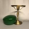 Strindbergslampa klassisk 200 mm mörkgrön - Strindbergslampa KLASSISK i antikoxiderad mässing + mörkgrön 200mm skärm