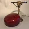 Strindbergslampa klassisk 200 mm vinröd - Strindbergslampa KLASSISK i antikoxiderad mässing + vinröd 200mm skärm
