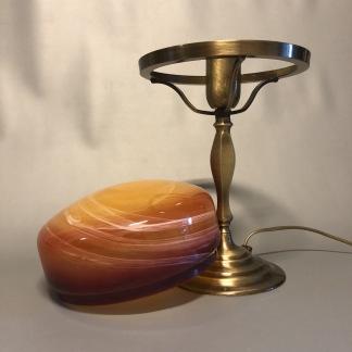 Strindbergslampa klassisk 200 mm varmmelerad - Strindbergslampa KLASSISK i antikoxiderad mässing + varmmelerad 200mm skärm
