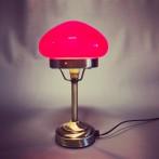 Strindbergslampa mini med vinröd skärm