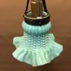 Klockskärmslampa 70-talsnostalgi pastellturkos