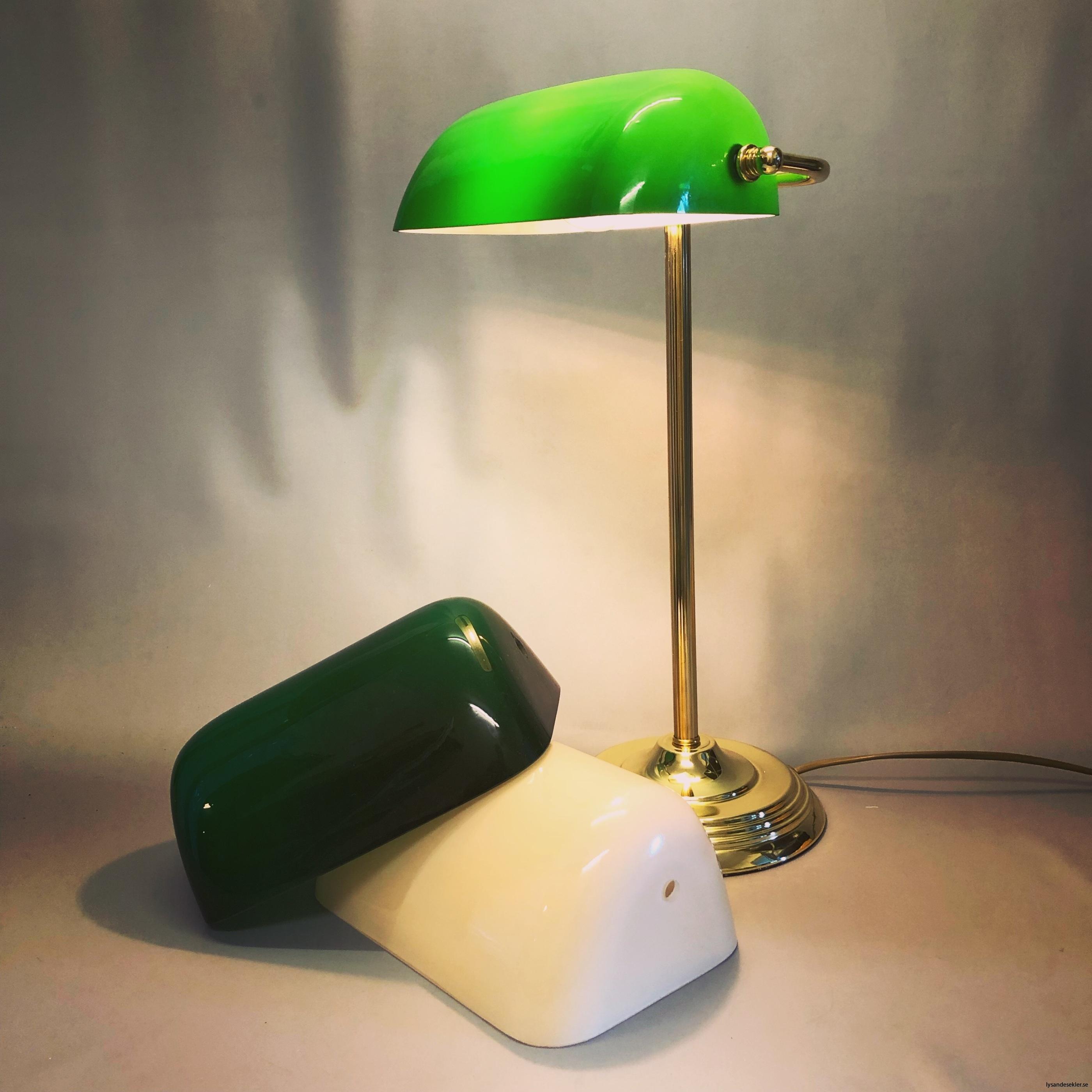 reservglas bankirlampa bibliotekslampa amerikalampa grönt lampglas gult reservglas extraglas1