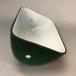 Reservglas till bankirlampa - Extraglas GRÖNT avlångt till bankirlampa